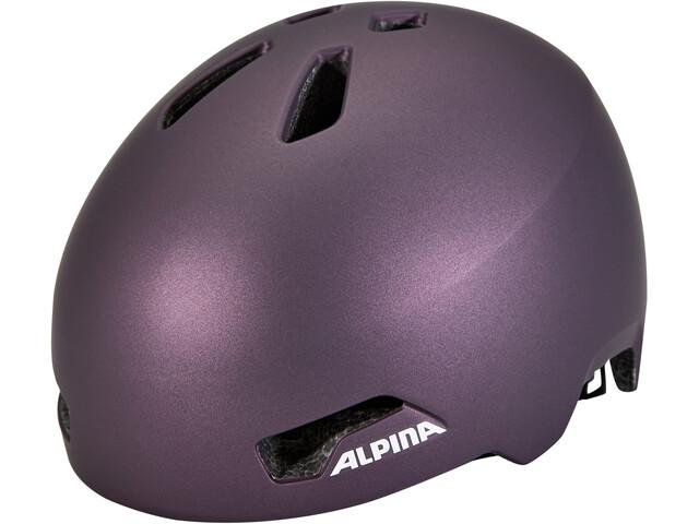 Alpina Hackney Helm Kinder dark-violet